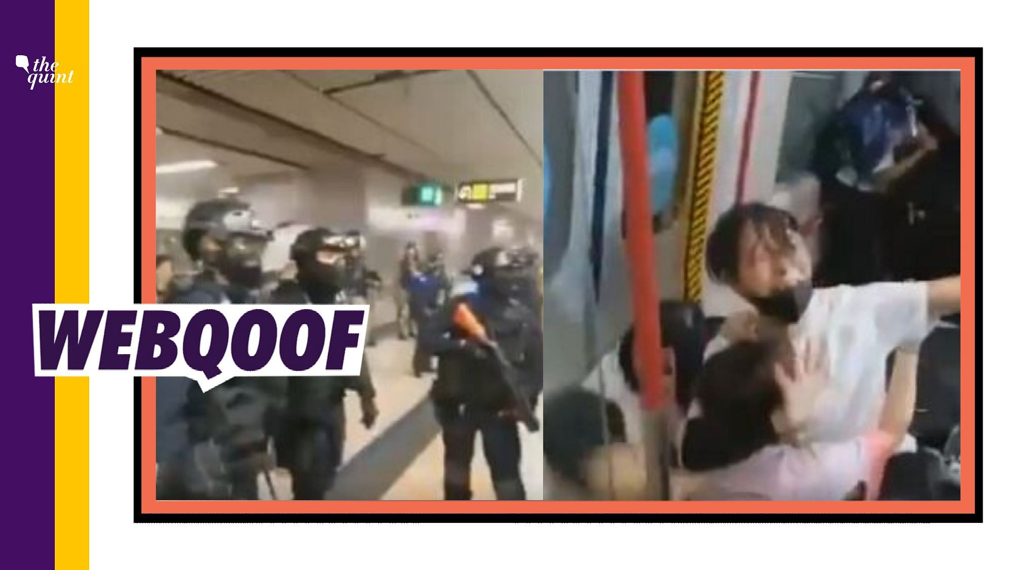 The incident took place at Prince Edward Station in Kowloon, Hong Kong.