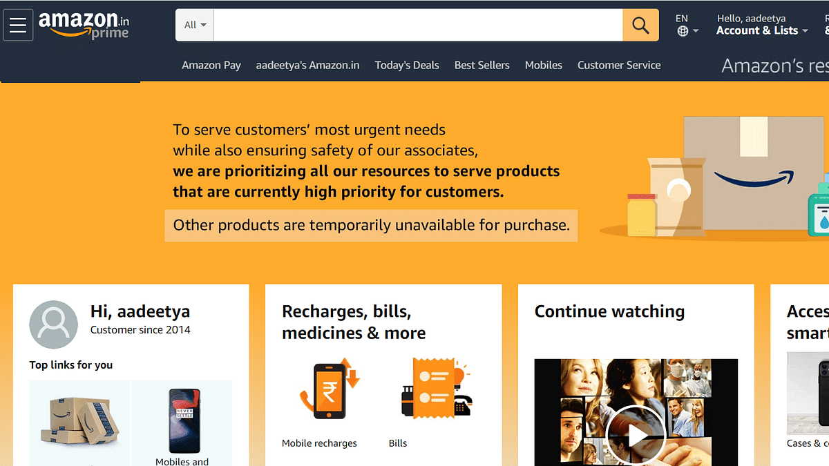 Amazon India to Sell 'Essential Items' Only, Delists Other Goods