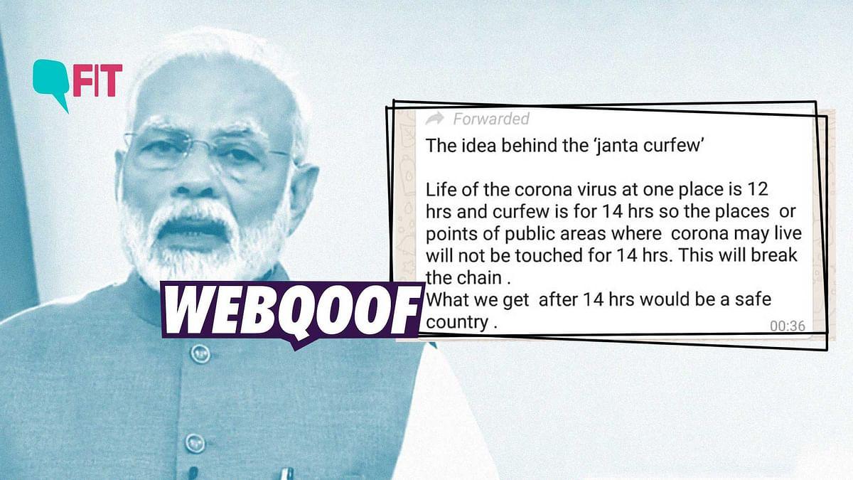 FIT WebQoof: Will 14 Hr Janta Curfew Make India COVID-19 'Safe'?