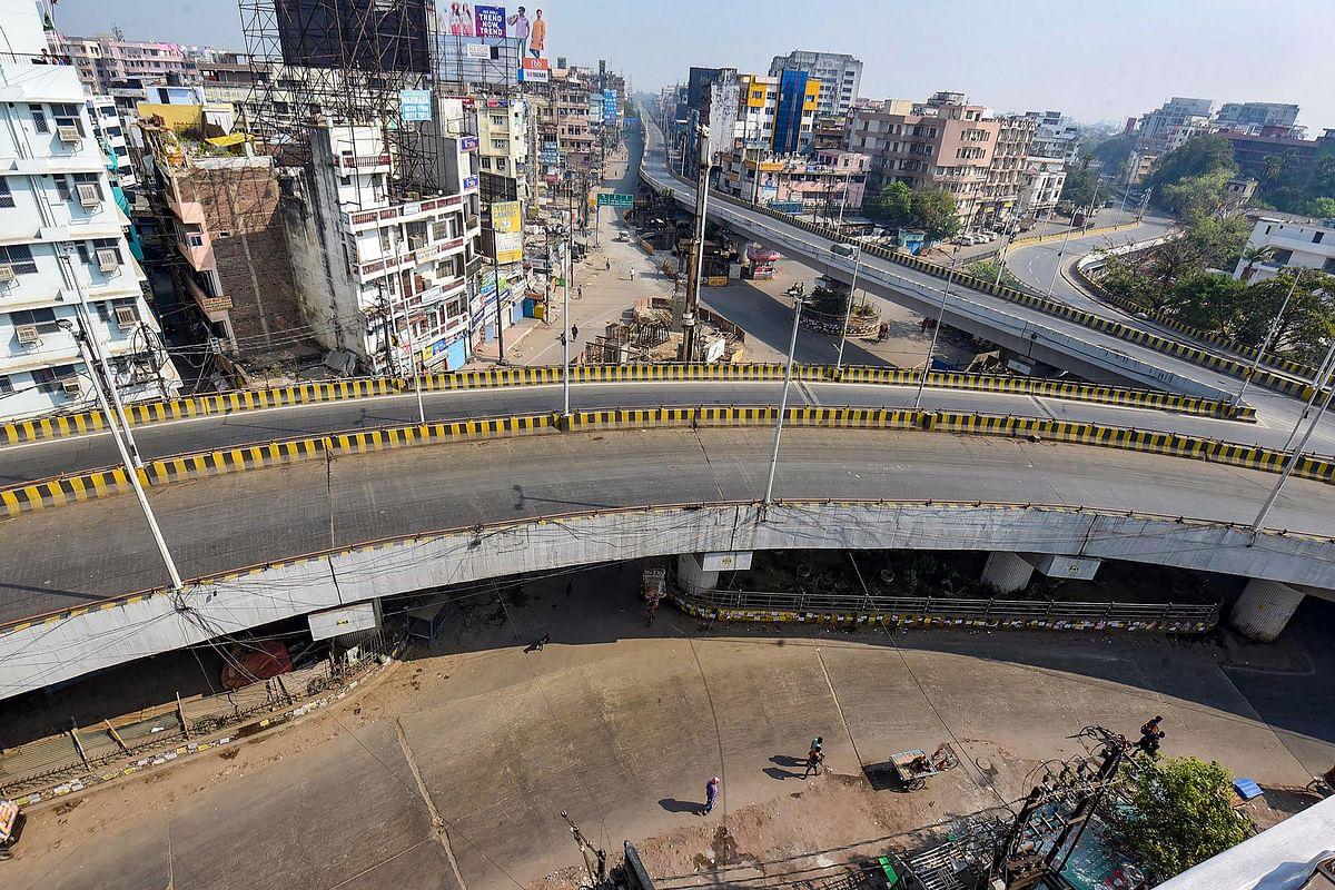 Chiraiyatand Bridge in Patna wears a deserted look.