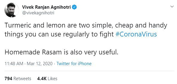 Screenshot of the tweet.