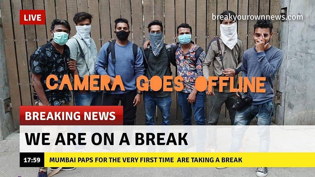 Bollywood photographers are on a break.