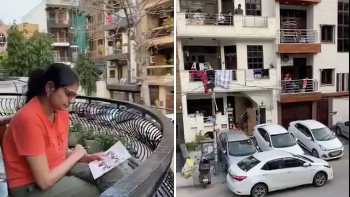 Indians Get Creative, Play Balcony Tambola During Delhi Lockdown