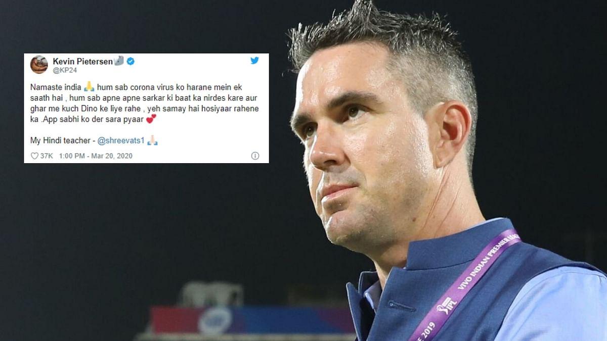 Pietersen Reaches Out to India on Coronavirus Awareness in Hindi