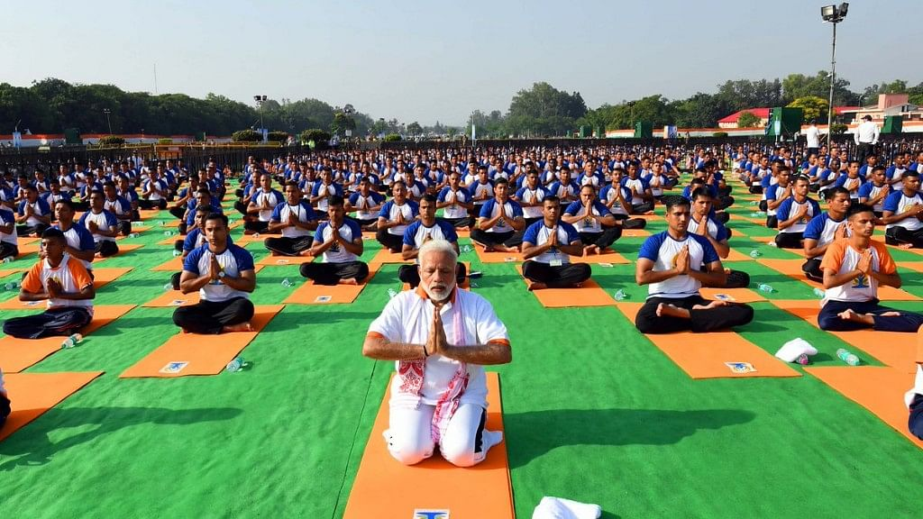 PM Modi Shares 3D Animated Videos of Him Practising Yoga