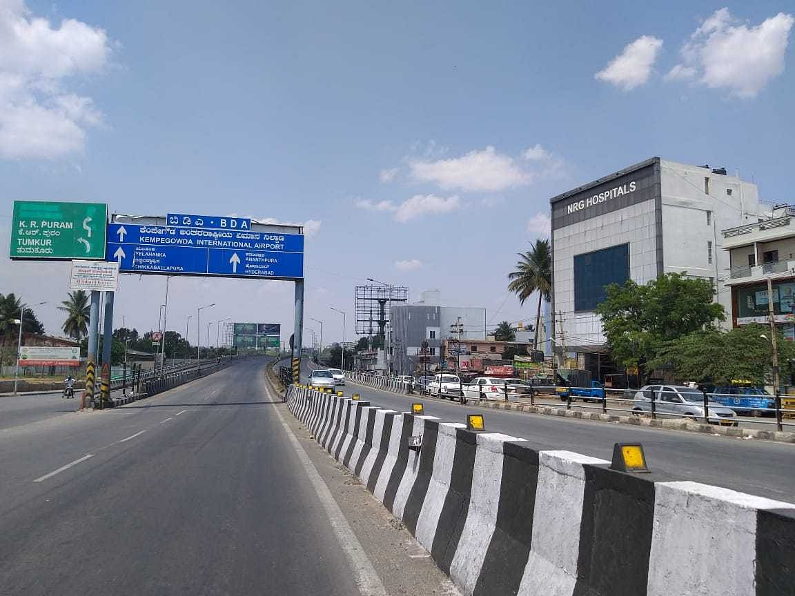 An empty road in Bangalore.
