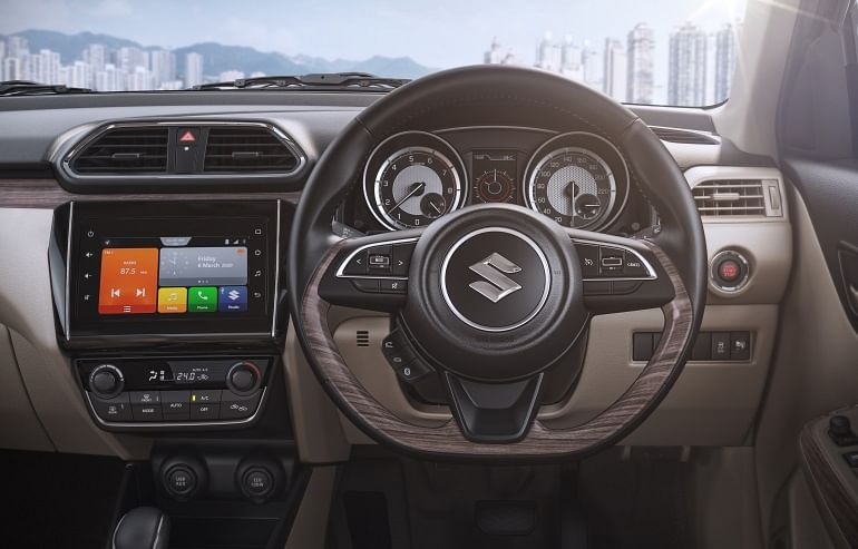 The Dzire gets revised dashboard colouring.