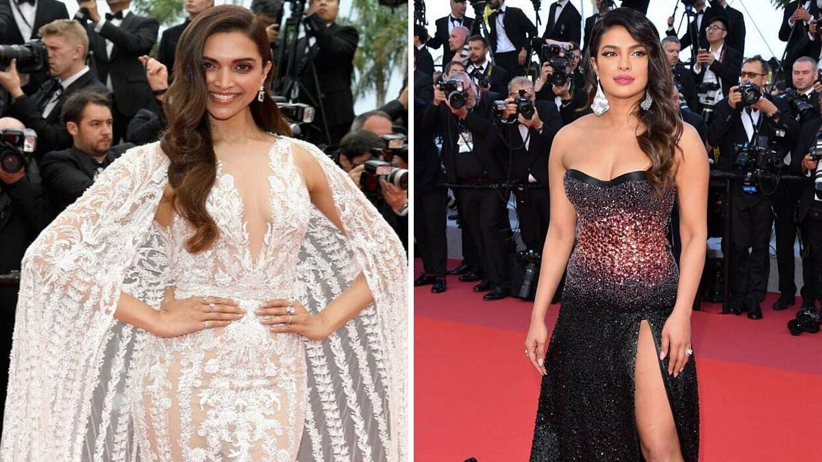 Priyanka Chopra and Deepika Padukone at the Cannes Film Festival.