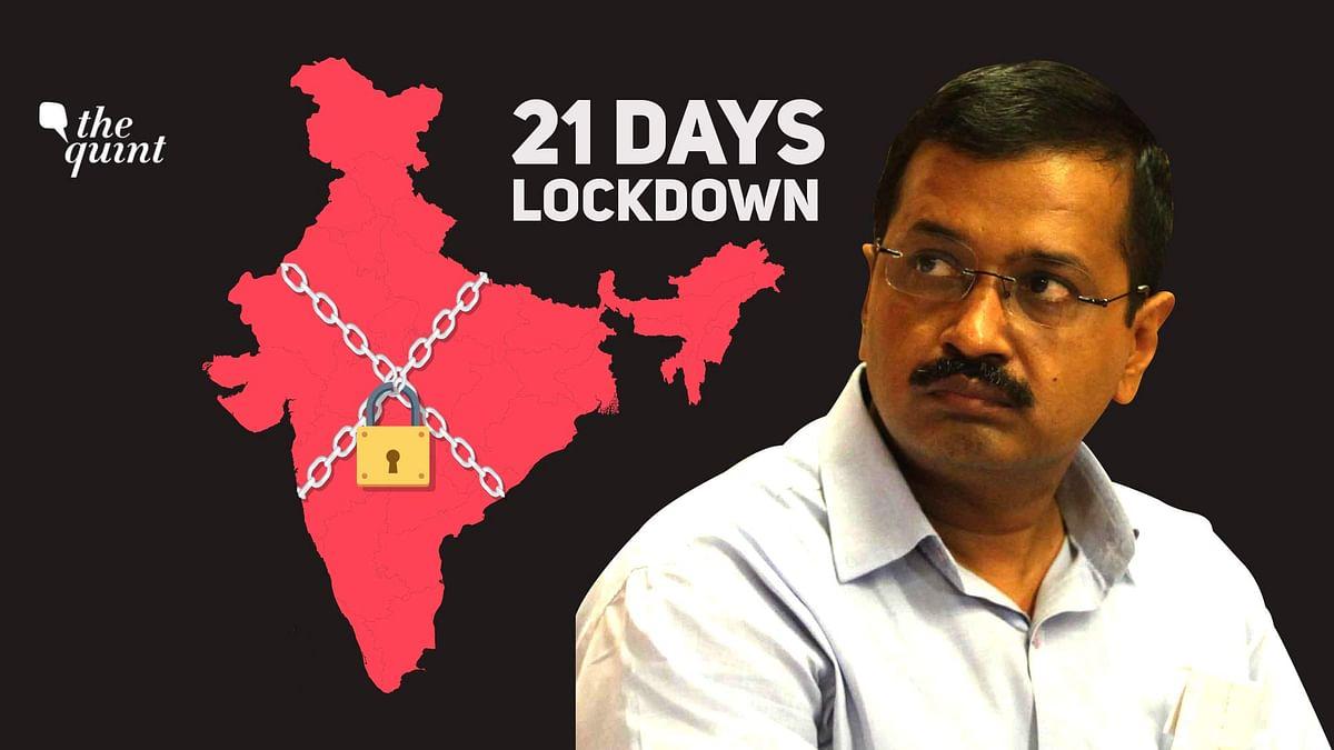 Delhi chief minister Arvind Kejriwal spoke on the COVID-19 lockdown.