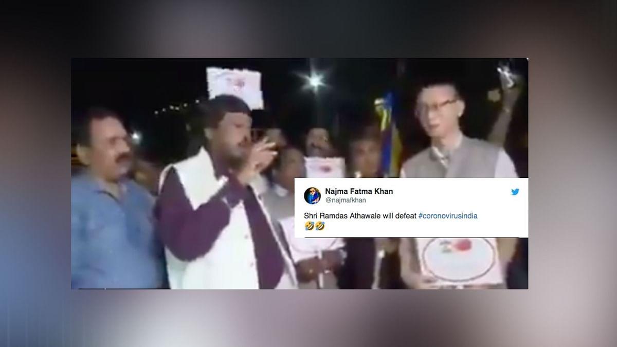 Union Min Raises 'Go Corona' Chant, Leaves Twitterati in Splits