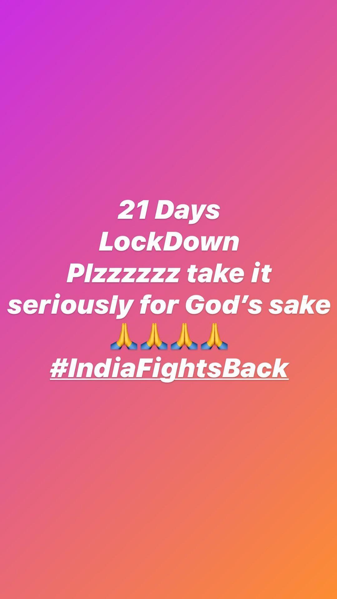 Take It Seriously: Sidharth Shukla, Hina Khan on 21-Day Lockdown