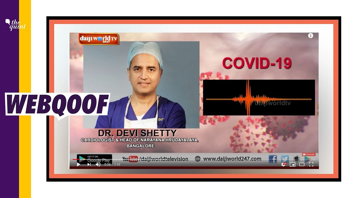 No, Dr Devi Shetty Hasn't Released an Audio Note on Coronavirus