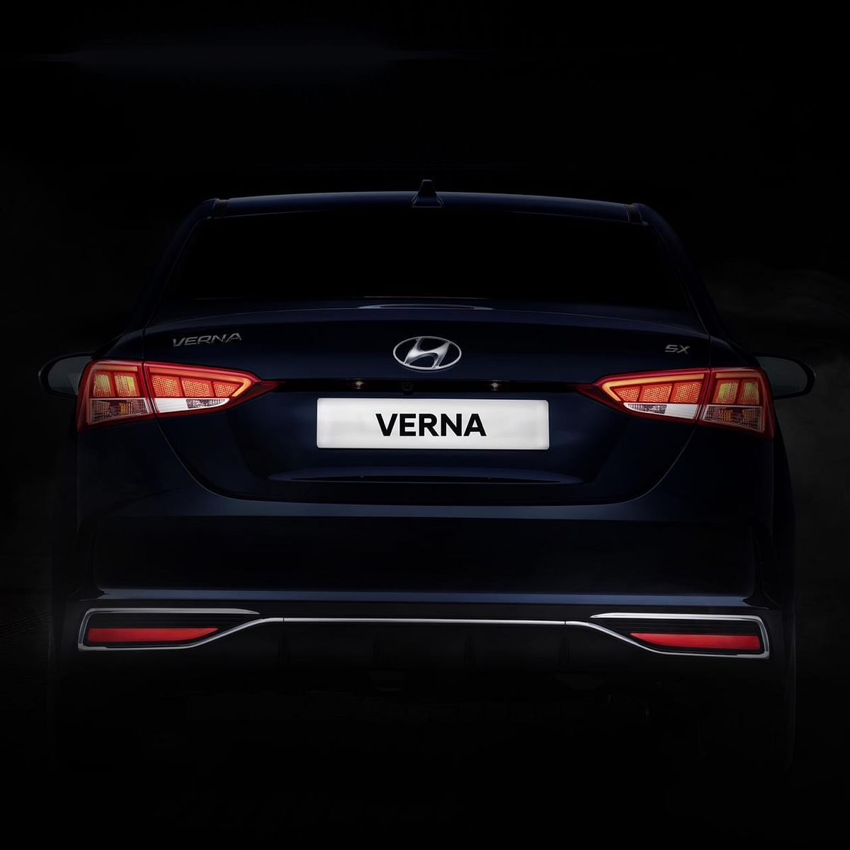 The 2020 Hyundai Verna gets a revised rear bumper and new LED tail-lamps.