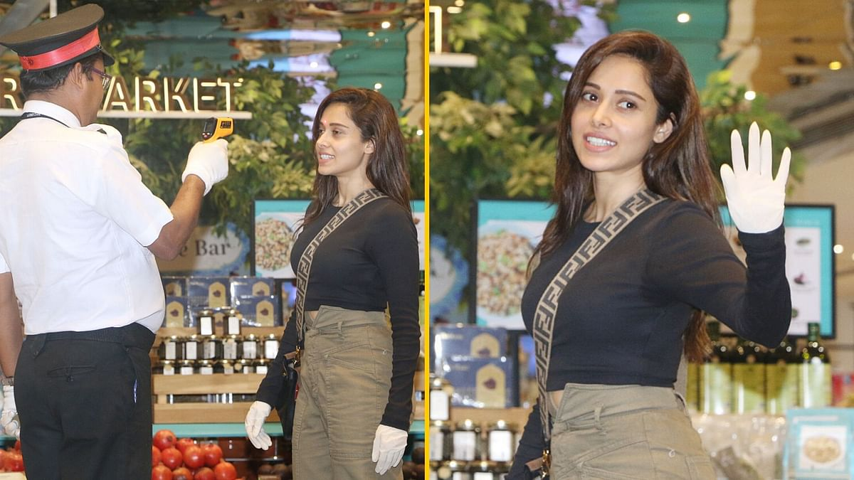 Nushrat Steps out Wearing Gloves; Gets Screened at a Store