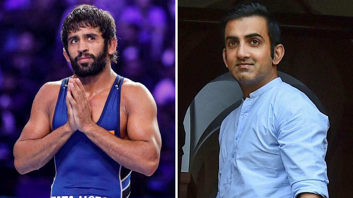 While Bajrang Punia (left) has donated his six month's salary to Haryana coronavirus relief fund, Gautam Gambhir released Rs 50 lakh from his Members of Parliament Local Area Development Scheme.