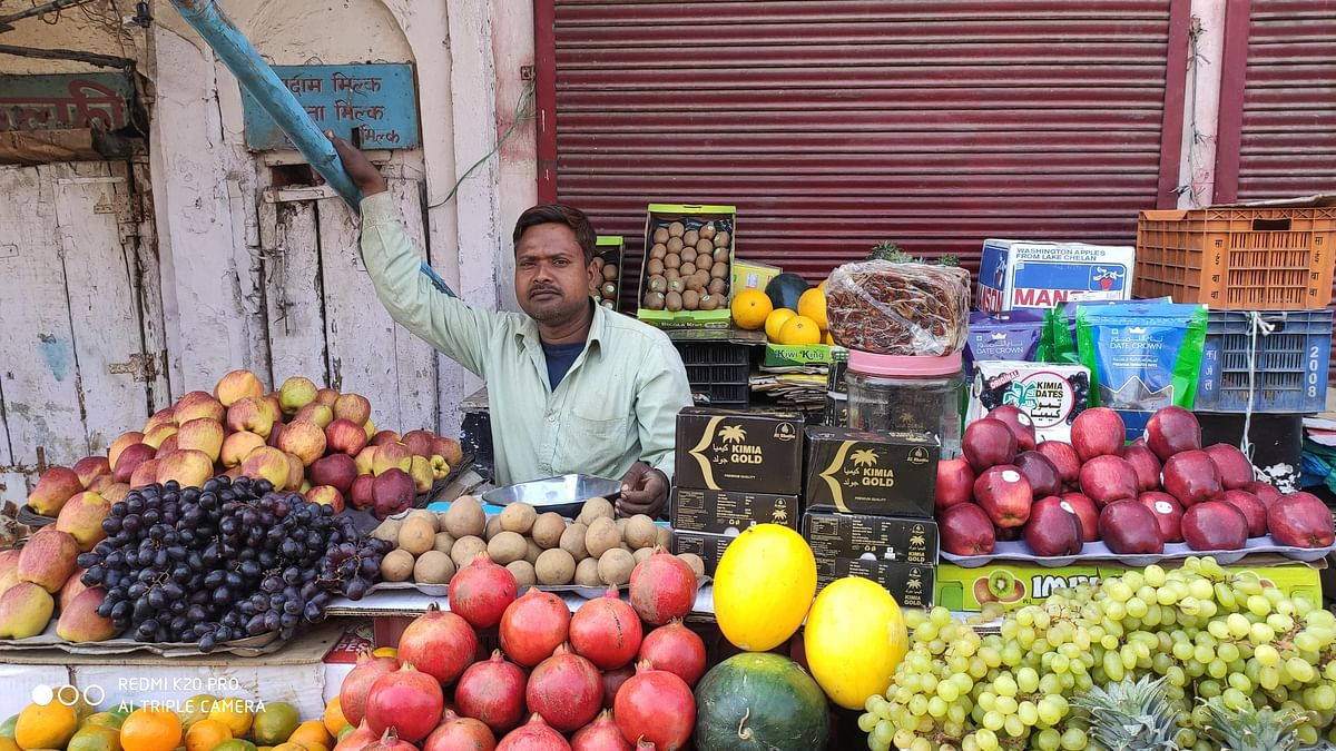 Irshad, a fruit seller in Jamalpur.