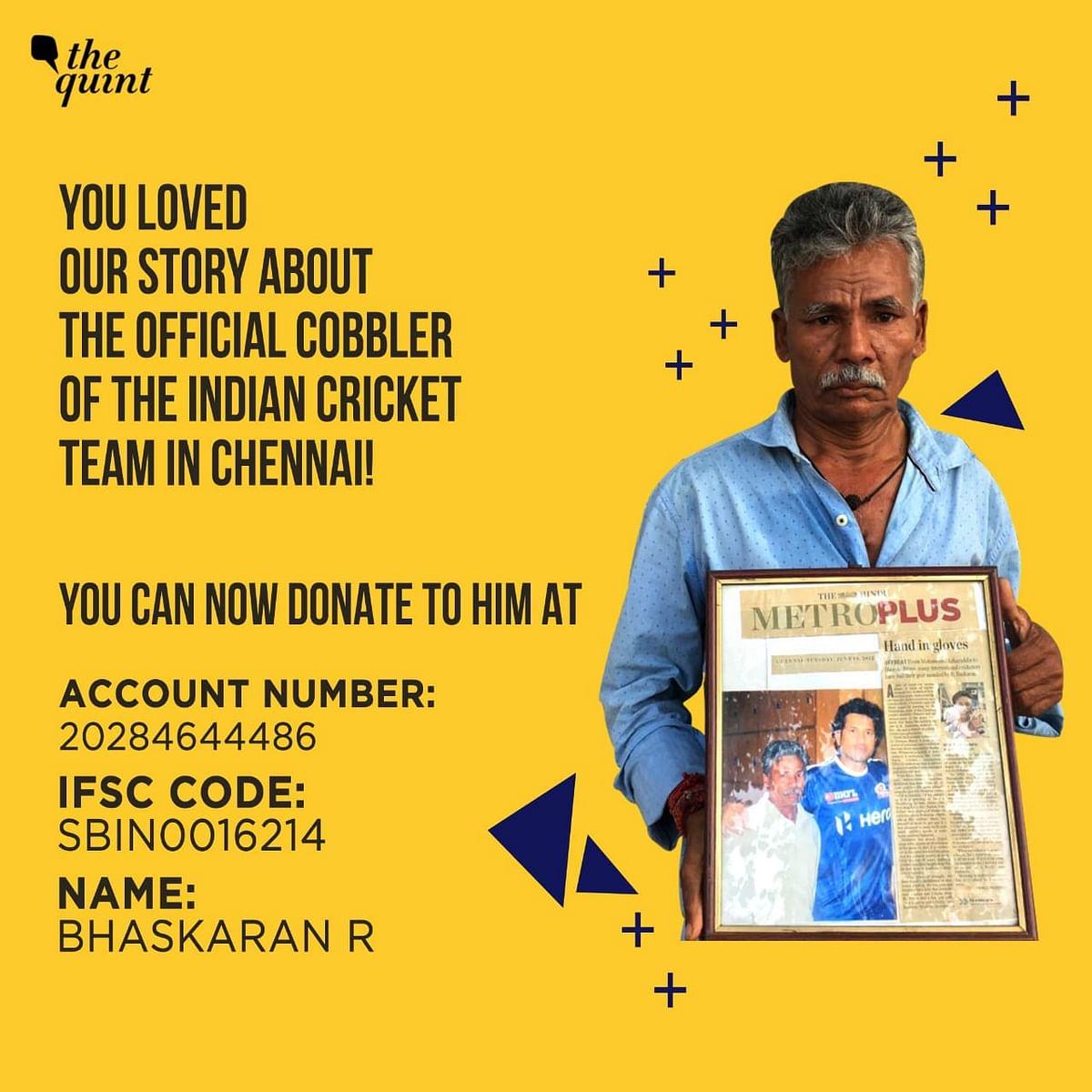 Consider donating to Baskaran.