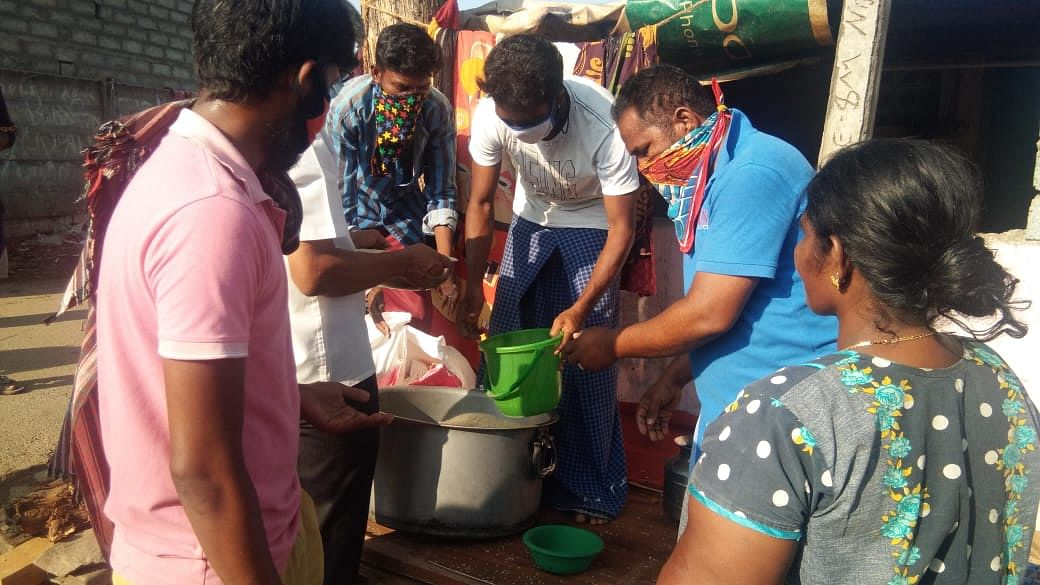 Several private groups have also been helping by providing cooked food.