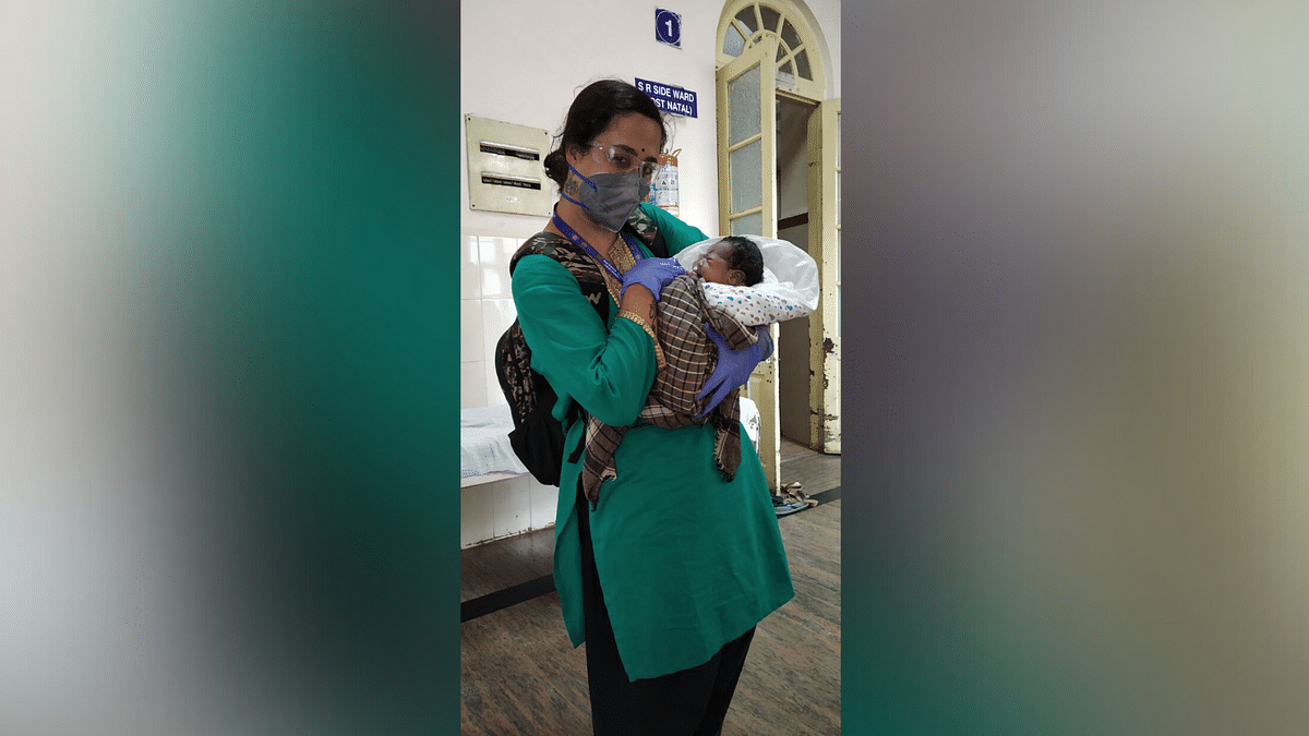 Raji, with the child of the overdue mother.