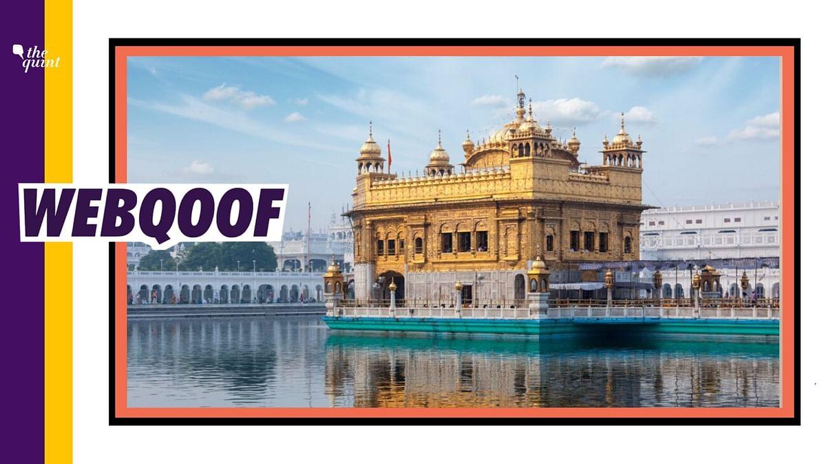 Punjab's Golden Temple Bearing PPEs, Ventilators' Cost? Fake News!