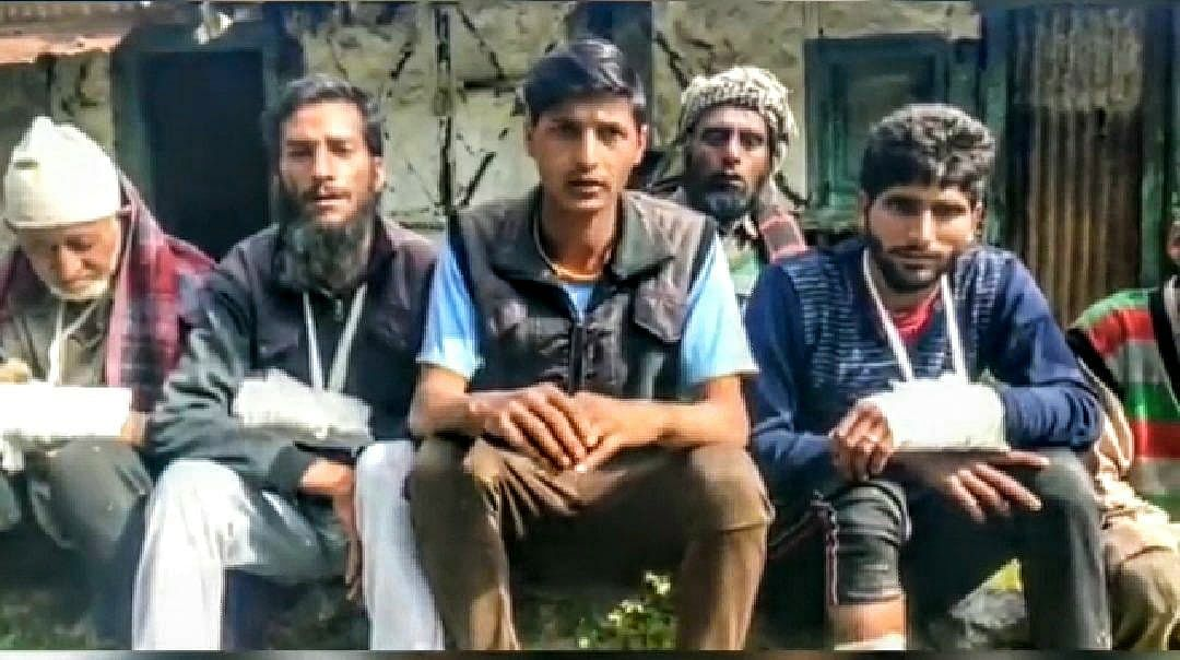 At least three of them have broken bones in their arms. A case has been registered against three accused for trespass after preparation for causing hurt and voluntarily causing hurt.