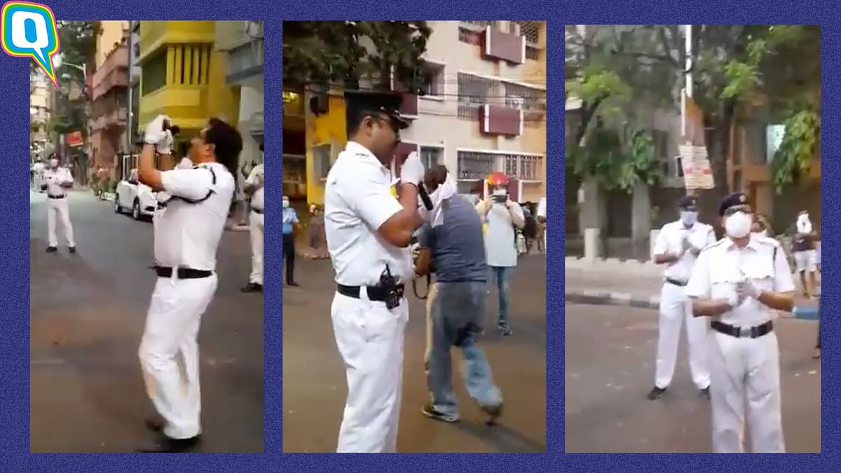 Kolkata Policemen Sing 'Bela Bose' With a Coronavirus Twist to It
