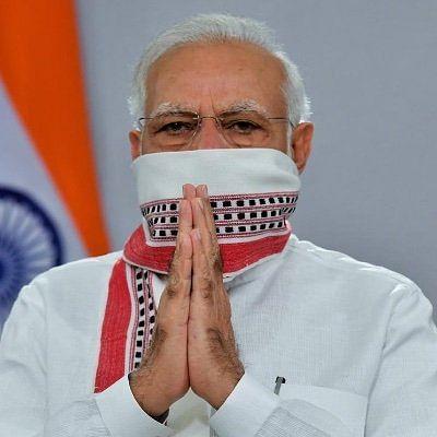 PM Modi's new Twitter dp.