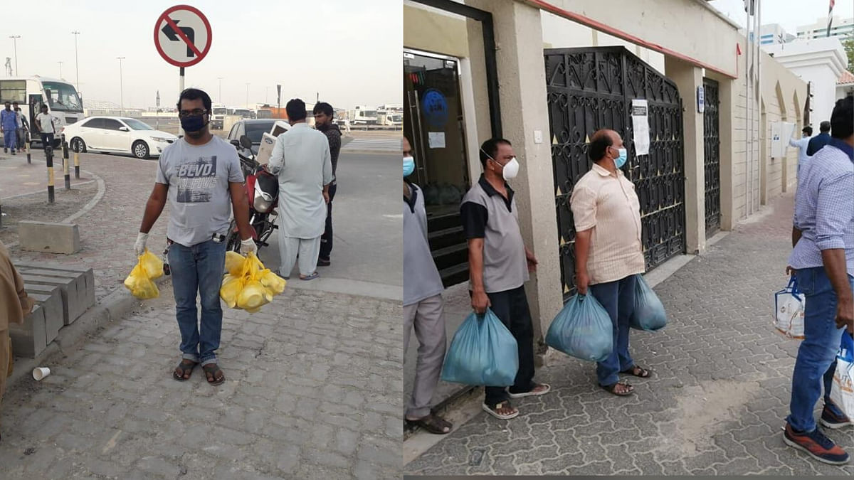 Sakthi Theatres organisation based in Abu Dhabi is providing food for over 300 persons and over 2000-3000 food kits have been distributed so far.