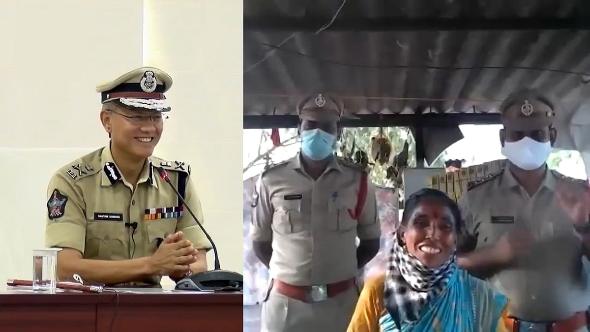 Andhra Labourer Wins DGP's Salute For Offering Soft Drinks to Cops