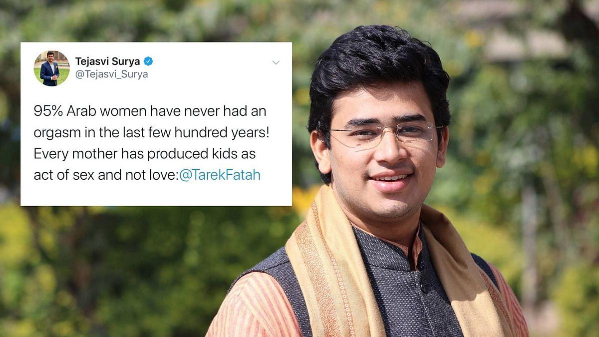 Tejasvi Surya Slammed for 2015 Tweet on Arab Women, Deletes It
