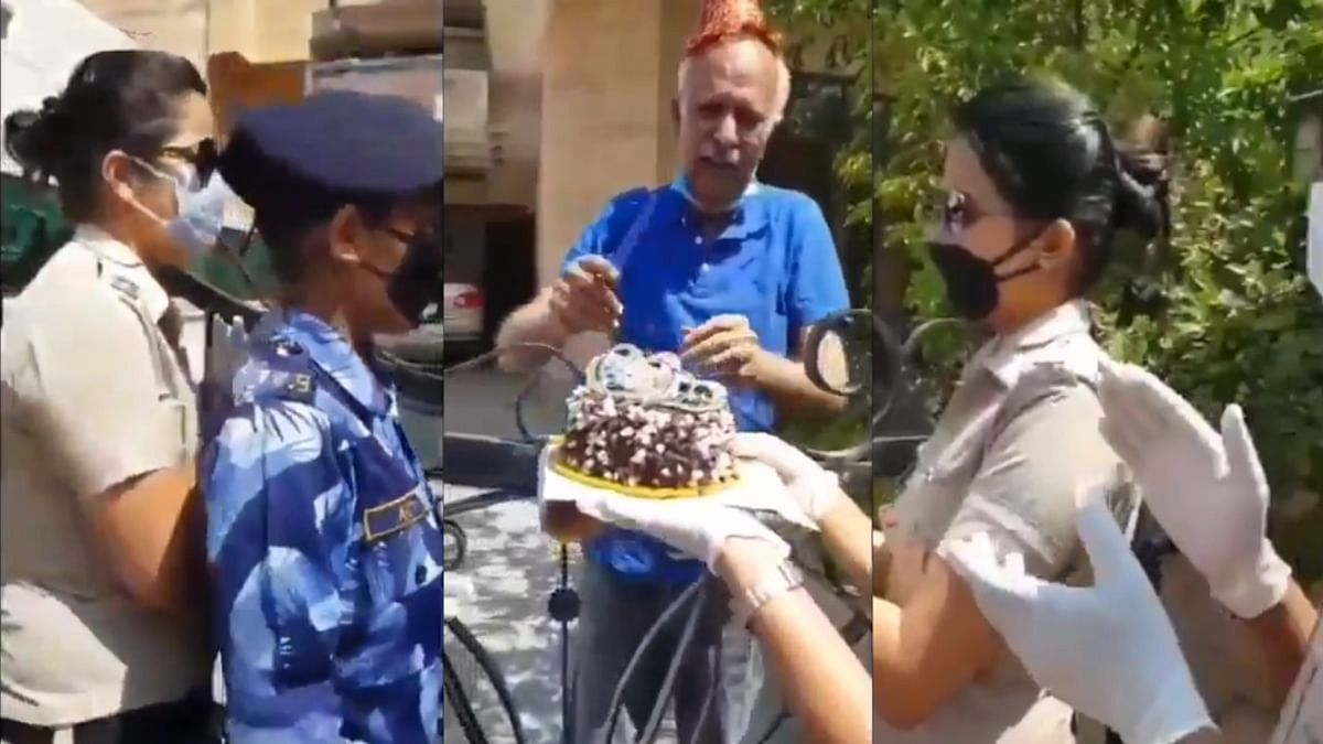 Army Veteran Breaks Down On Getting Birthday Cake From  Police