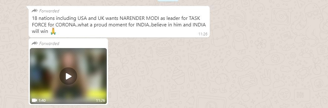 No, PM Modi Is Not Heading an International Task Force on COVID-19
