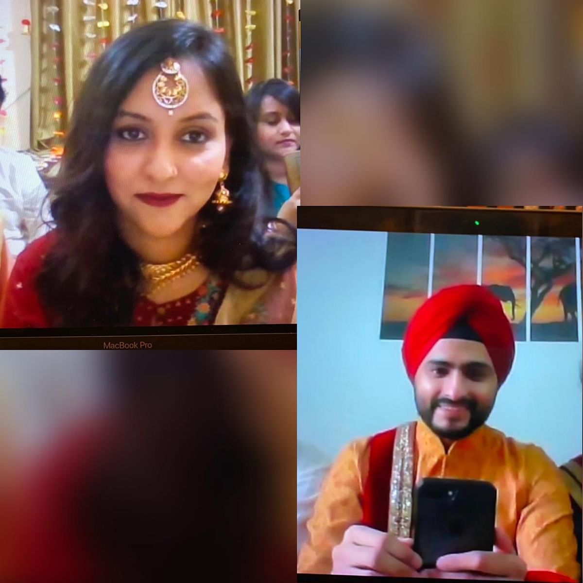 Preet and Neet get married on Zoom.