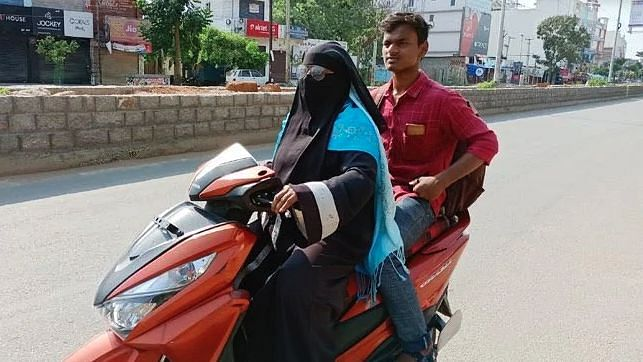 Razia Begum set out on the arduous journey on 6 April, rode solo to Nellore and returned with her younger son on 8 April.