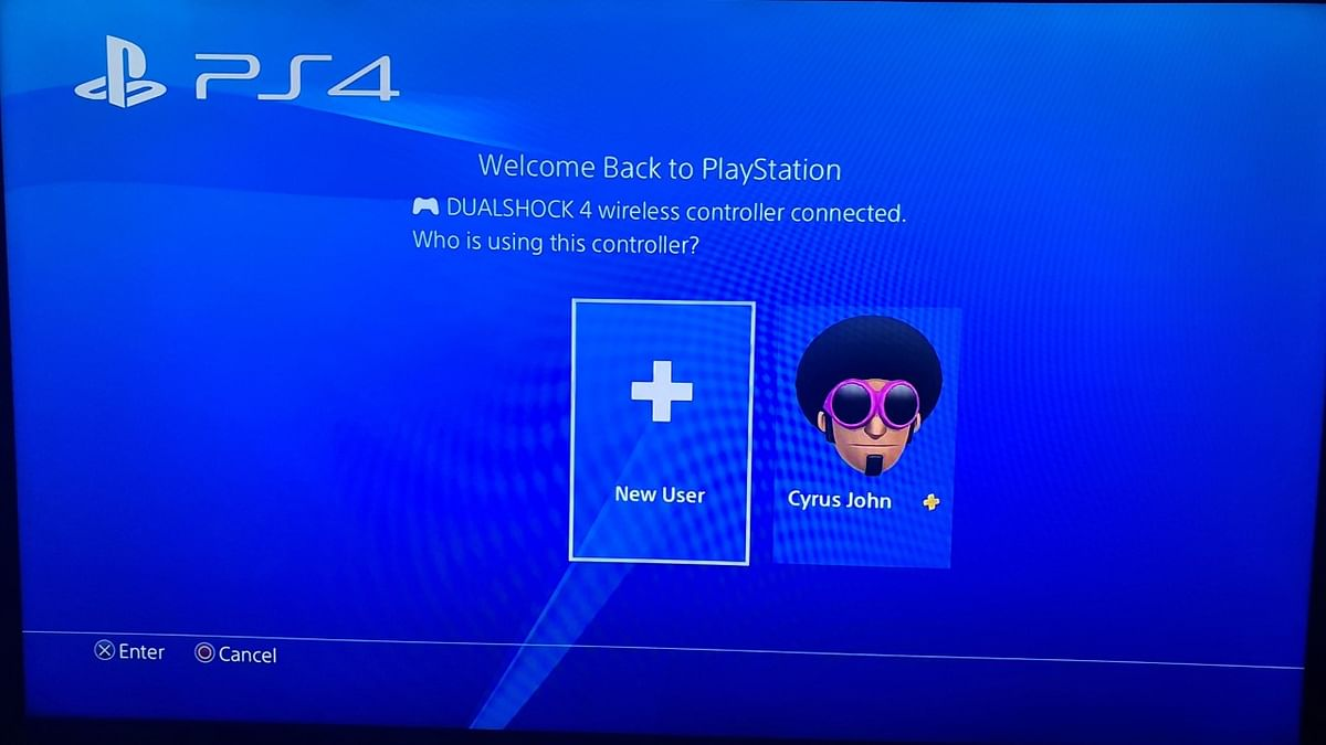 A profile on PS4 console.