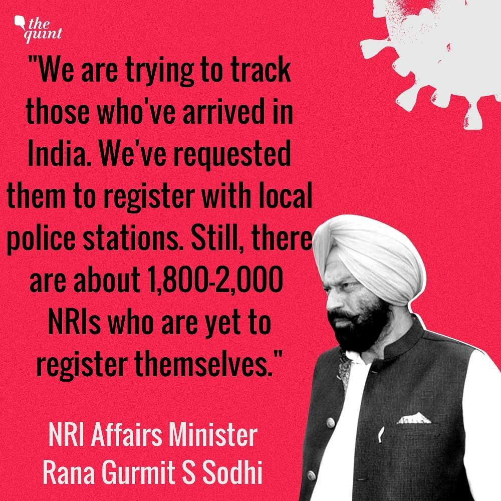 Around 2,000 NRIs Yet to Register With Police: Punjab NRI Minister