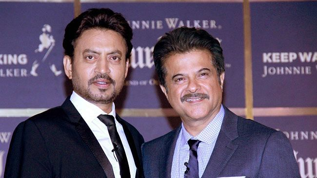 Irrfan Khan with Anil Kapoor.