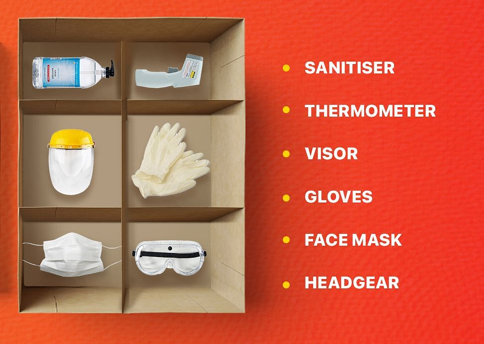 Restaurant safety kit being provided by Dineout.