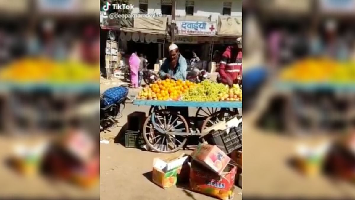 A viral video on social media shows a man in Madhya Pradesh's Raisen district allegedly spitting on the fruits that he was selling.