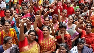 Bengaluru: People stage a demonstration against the Transgenders Persons (Protection of Rights) Bill 2016. Image used for representational purposes.
