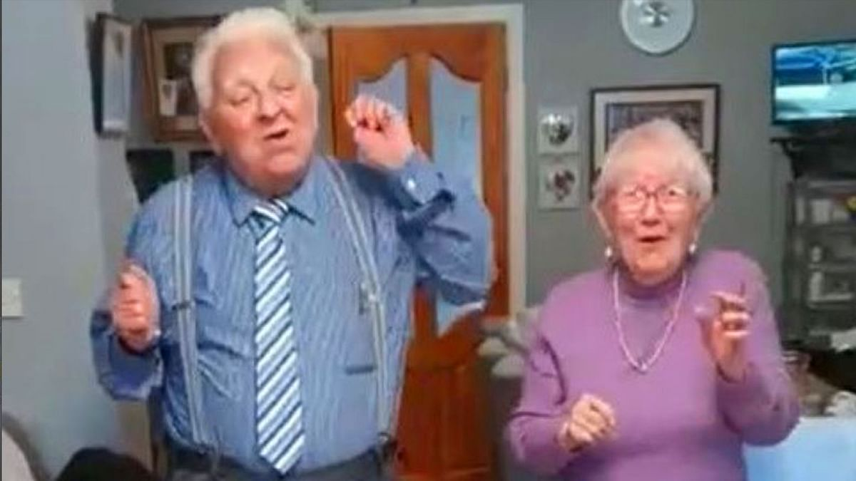 This Elderly Couple Singing in Quarantine Will Cheer You Up