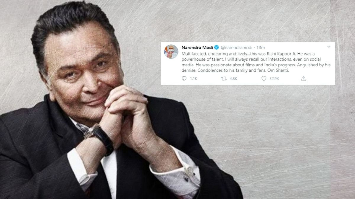 Rishi Kapoor breathed his last after he was admitted to the Sir HN Reliance Foundation Hospital in Mumbai on Wednesday night.