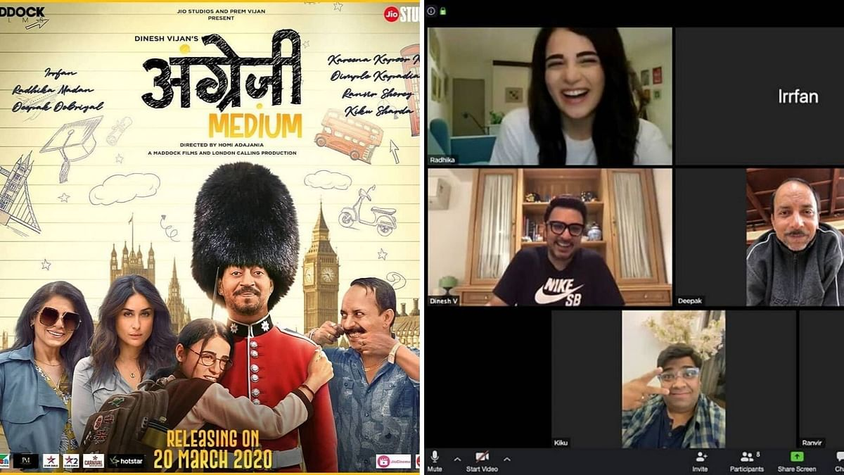 'Angrezi Medium' Team Watches the Online Film Premiere Together