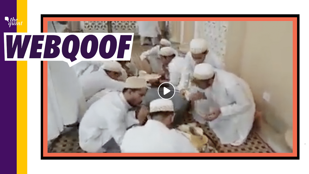 Fake: Old Video Shared as Muslims Licking Plates to Spread Corona