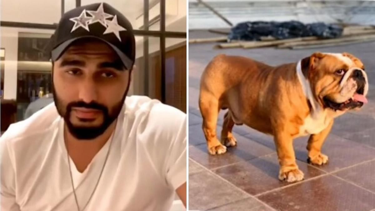 Arjun Kapoor and his pet dog Max.