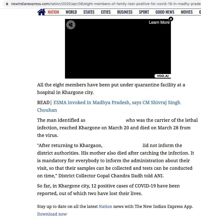 Republic, ANI Falsely Claim Madhya Pradesh Man Died of COVID-19