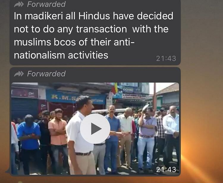 Old Video Shared as Call to Boycott Muslim Businesses in K'taka