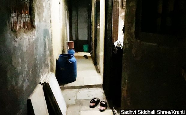 A home for sex workers in Kamathipura, 4 April  2020. In such a constricted space, even if one person contracts COVID-19, it could spread rapidly.