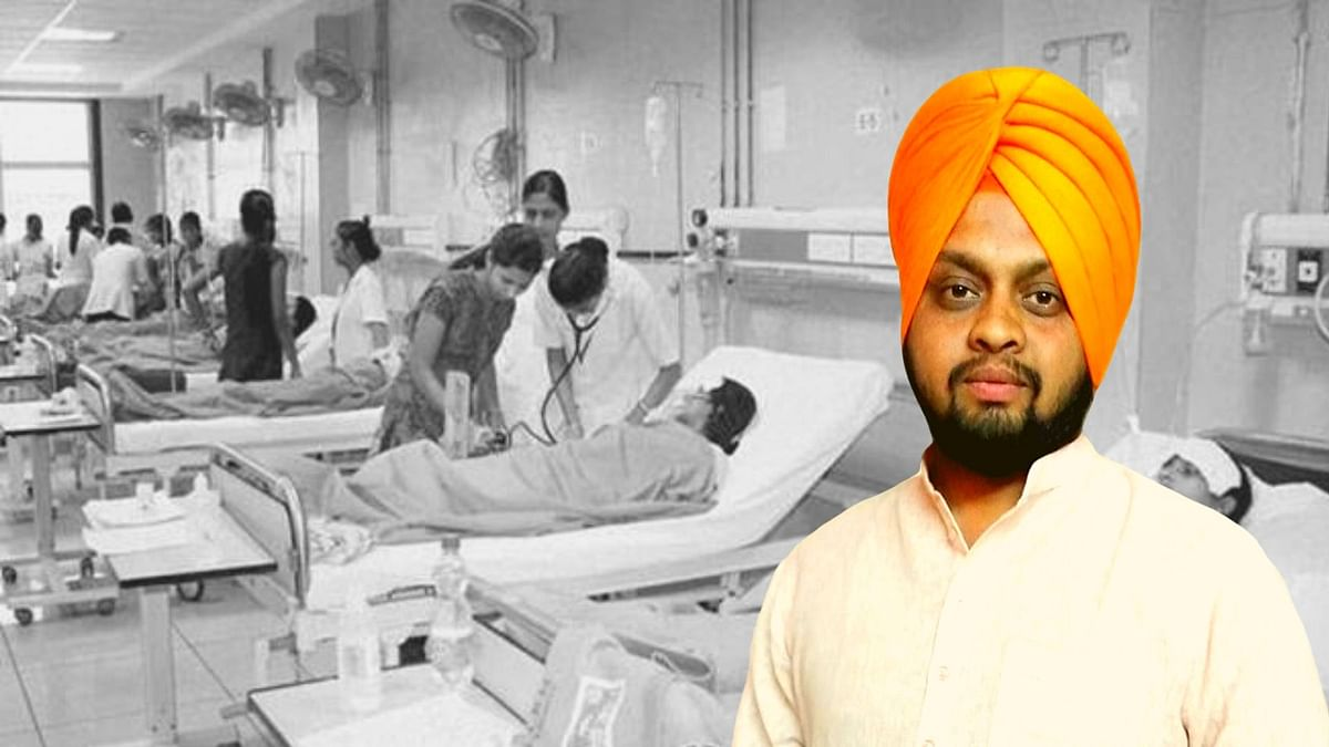 32-year-old Simranjit Singh alias Simar Chandok, who is BJP Yuva Morcha vice president, was booked for sedition by Punjab police for a post on the Ludhiana civil hospital not having any ventilators.