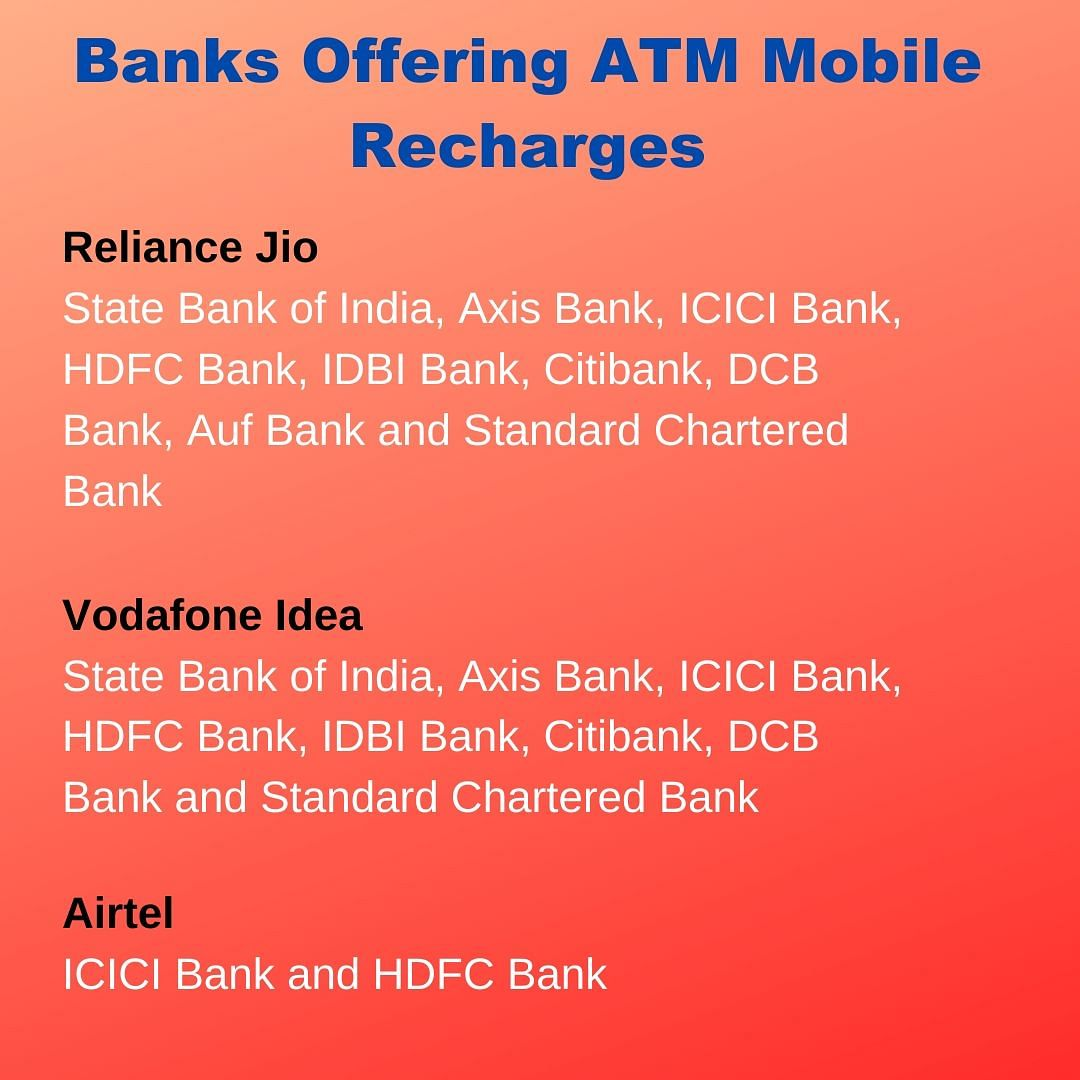 How To Recharge  Jio, Vodafone or Airtel  Number With an ATM Card